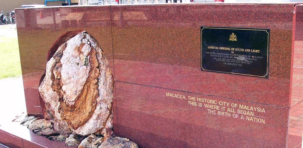 Recuerdo de la firma de la independencia en la ciudad de Malacca Malasia