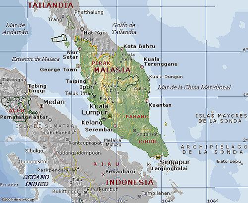 mapa Malaysia peninsula