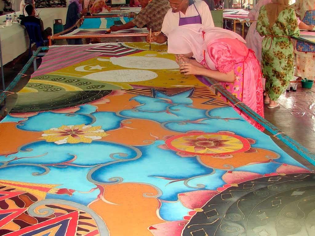Batik en Kelantan la costa este de Malasia