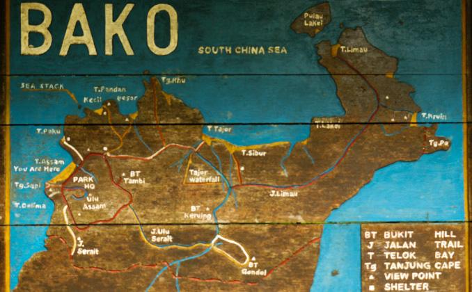 Mapa del Bako National Park