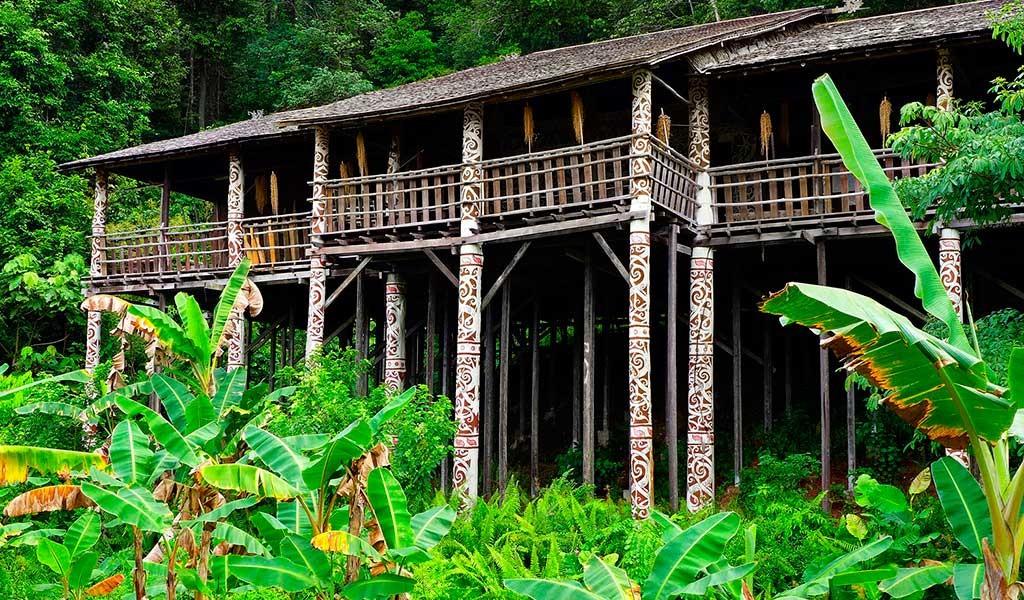 LongHouse en nuestra aventura al viajar a Sarawak Borneo