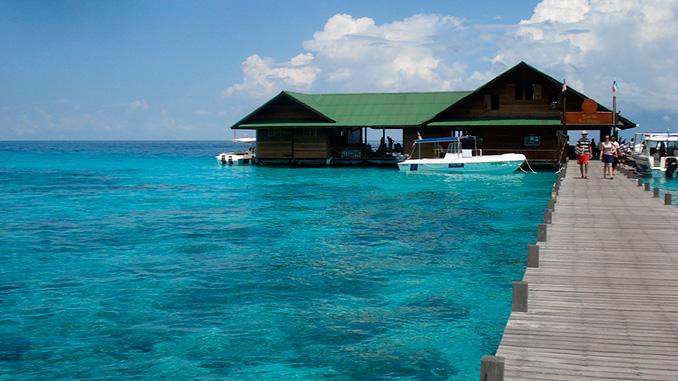 Playas de Lankayan en Sandakan Borneo