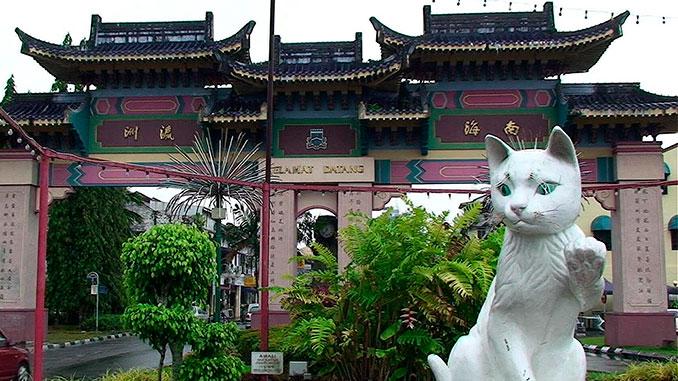 El nombre Kuching proviene de la palabra gato en malayo