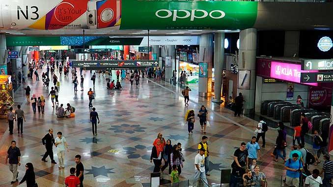 El monorraíl de Kuala Lumpur estación KL Sentral