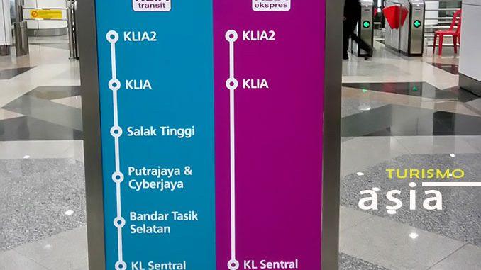 Cómo moverse en tren por Kuala Lumpur