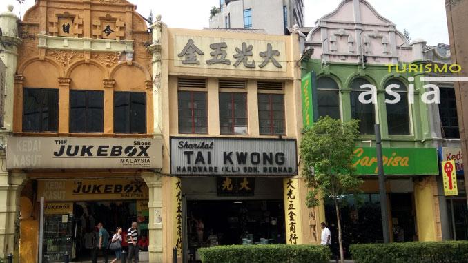 Las casas del barrio chino de Kuala Lumpur