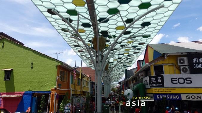 El barrio de Little India en Kuching
