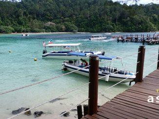 Las playas de kota kinabalu en Borneo