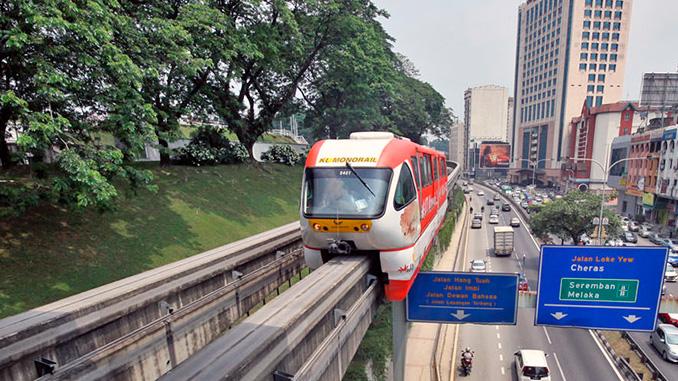 El monorail la forma más cómodo de moverse por Kuala Lumpur