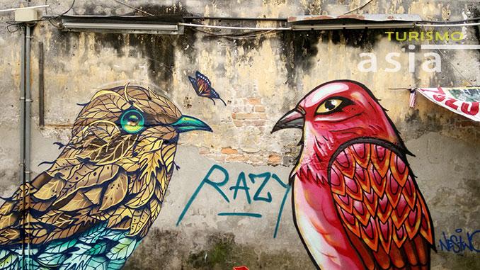 Decoración del barrio chino de Kuala Lumpur