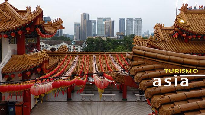 Las mejores vistas de Kuala Lumpur desde templo Thean Hou