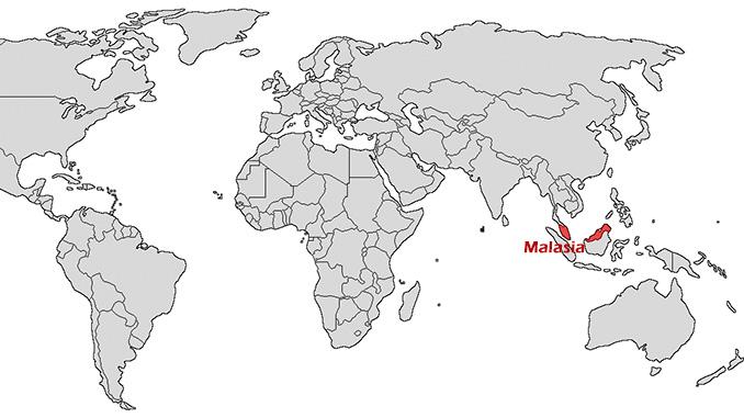 Dónde está Malasia en el mapa