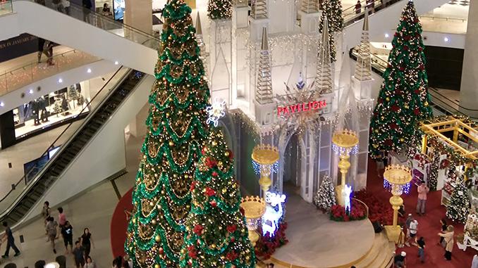 Decoración de Navidad en Kuala Lumpur centro comercial Pavilion