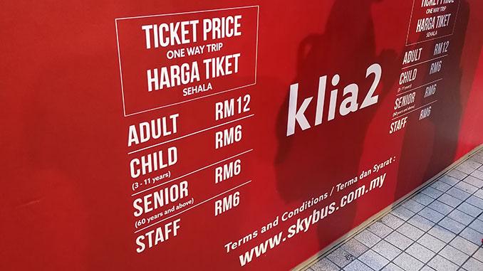Precio bus aeropuerto a la ciudad de Kuala Lumpur