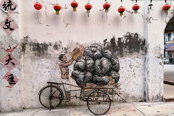 arte callejero en Ipoh Malasia