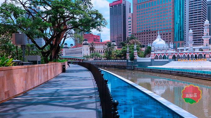 El río de la vida en Kuala Lumpur