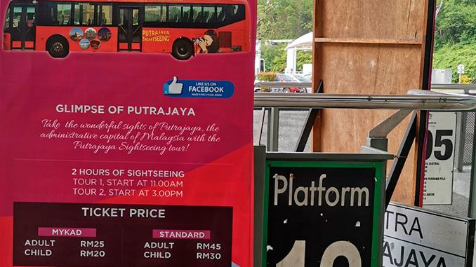 Autobús turístico en Putrajaya