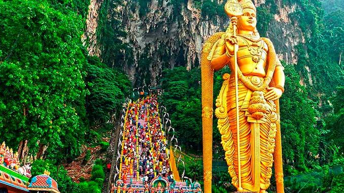 Visitar Batu Caves en Kuala Lumpur