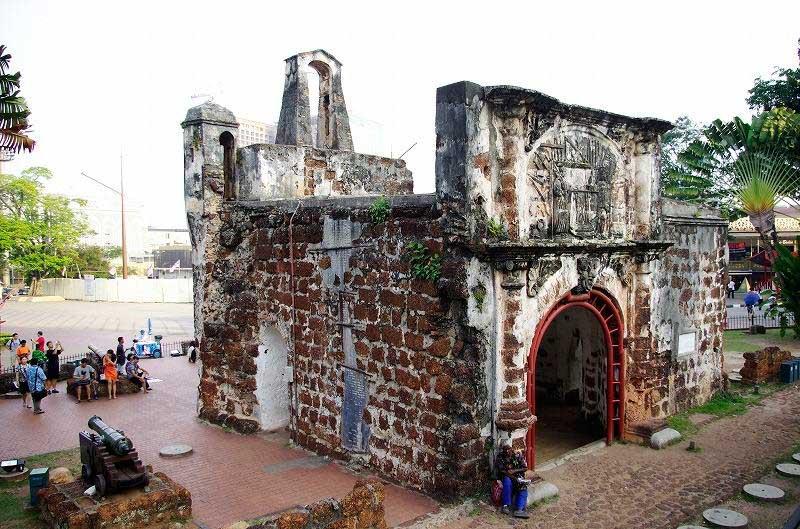 La Puerta de Santiago en la ciudad de Malacca, Porta de Santiago, Gate James