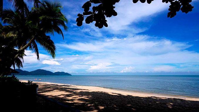 Playa de Batu Feringghi en la Isla de Penang