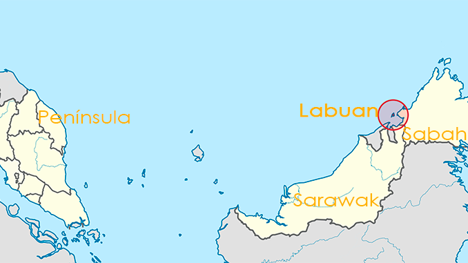 Mapa para visitar Labuan en Borneo