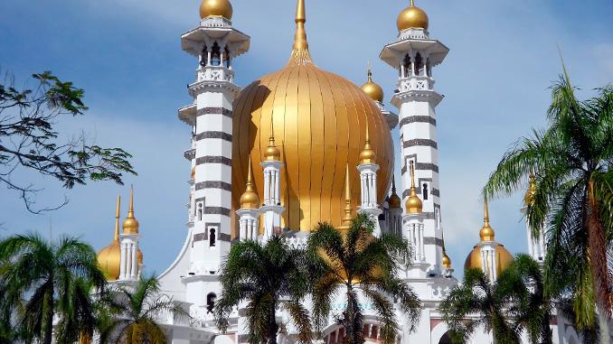 La mezquita de Perak en Malasia