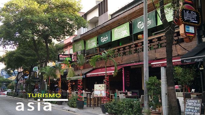 Calle Changkat Bukit Bintang nightlife of KL