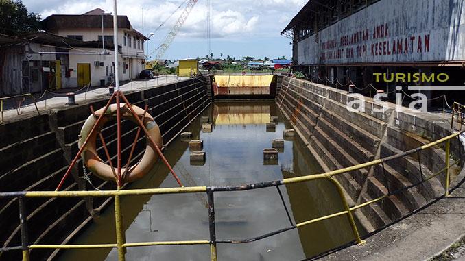 Vyner Brooke creó el primer muelle de Kuching en Borneo