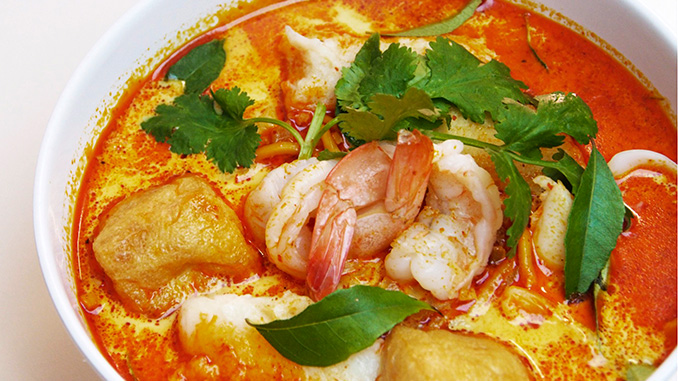 comida Laksa Lemak Penang Malasia