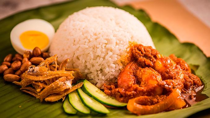Nasi Lemak comida Penang Malasia