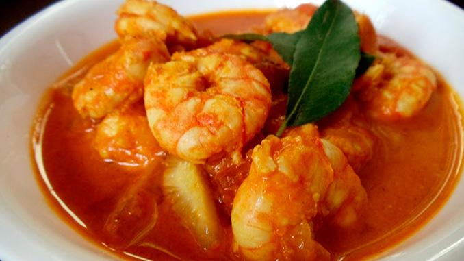 Gambas al curry malayo Penang