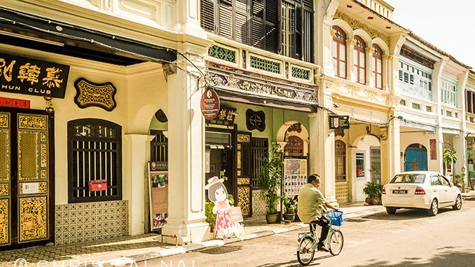 En las vacaciones en Penang disfruté de la arquitectura de la ciudad