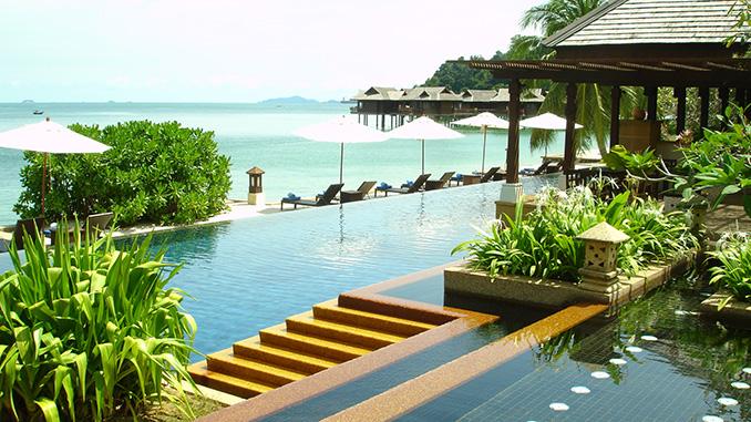 Playas de la isla de Pangkor en Malasia