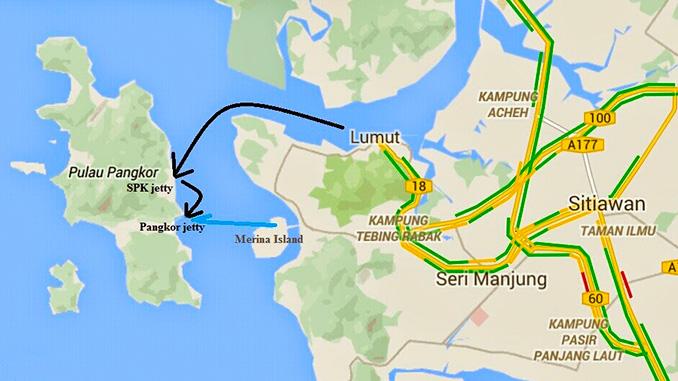 Localización de Pangkor Malasia