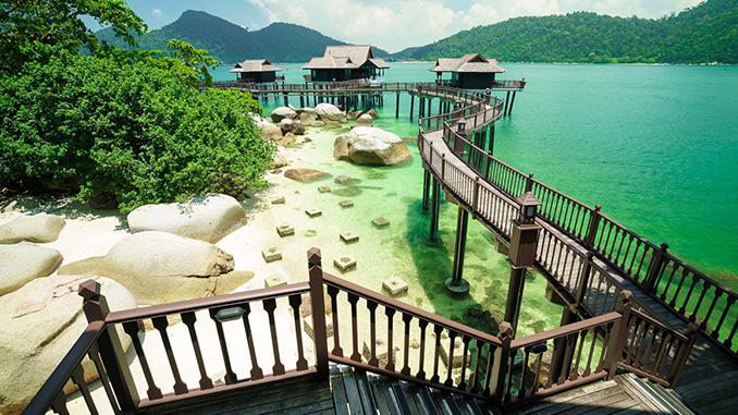 Los hoteles y resorts en la isla de Pangkor en Malasia