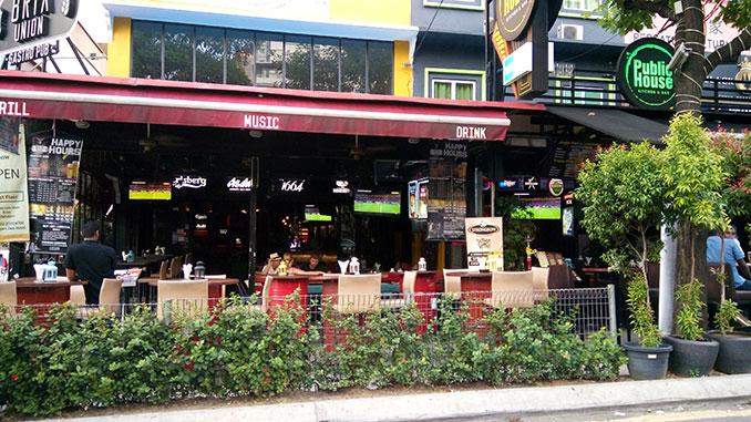 La calle de los bares en Kuala Lumpur