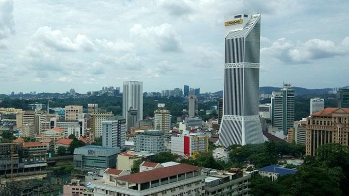 Torre del edificio Maybank en Kuala Lumpur