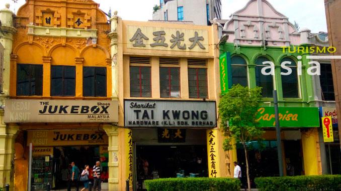 Alrededores de Chinatown en Kuala Lumpur