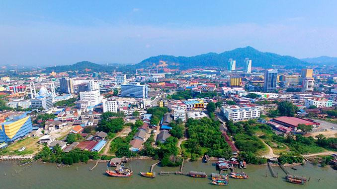 Ciudad de Kuantan en Pahang