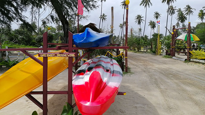 Kayac en D aur Beach Resort en Kelantan