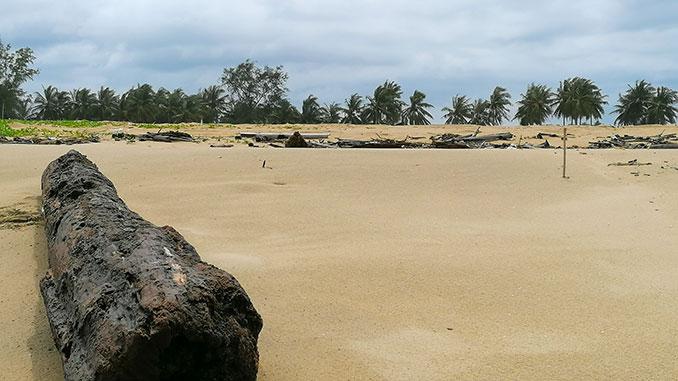 Playas de Tumpat en el norte de Malasia